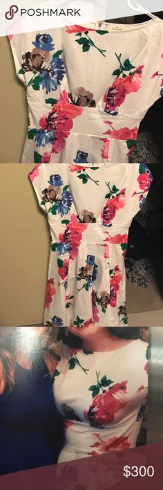 Kate Spade Floral A Line Dress Gorgeous dress. Only worn once. kate spade Dresses