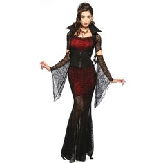 Are you ready for Halloween 2016!! Check out this gorgeous vampire costume! Only thing to worry is the makeup! Get this costume for $29.99! Enjoy our Halloween Sales discounts until September 26th!