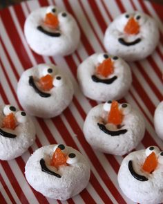 A Fun Snack For All Ages – Snowman Doughnuts   A Spotted Pony