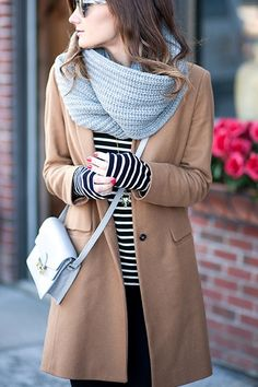 How to Wear an Infinity Scarf via @PureWow