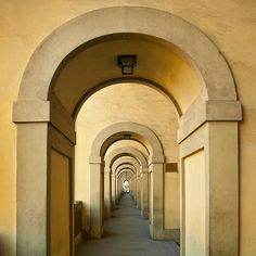 Italy - Florence - Vasari Corridor arcade_sq_DSC8787 | by Darrell Godliman