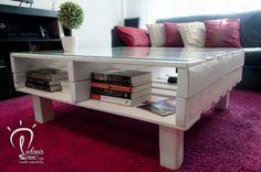 Les presentamos la nueva versión de nuestra mesa ratona de centro elevable. Fabricada 100% con madera de pallet.