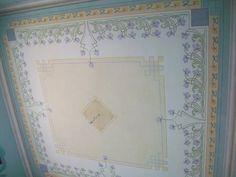 Ghirigori di Alessandra Borelli, soffitto dipinto, nuova decorazione painted ceiling