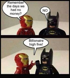 Life is tough... #teamironman #batman
