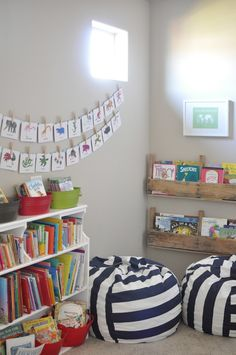 love this reading space. play room.