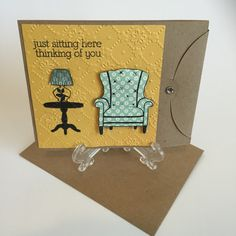 Just Sitting Here Thinking of You Card by CraftsByKesh on Etsy