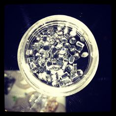 Rhinestones from our Dark Arts kit for stunning nails