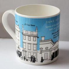 Mug - Jane Austen Places in Regency Bath Jane Austen Online Giftshop