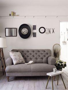The Bingley two seat sofa in Pigeon Coloured Herringbone, Take A Seat, Love Seat, Bespoke Sofas, Beige Sofa, Interior Design, Furniture, Home Decor, Herringbone, Sofa Beds