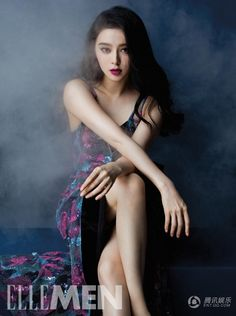 Chinese actress Fan Bingbing http://www.chinaentertainmentnews.com/2015/09/fan-bingbing-covers-elle-men.html 范冰冰