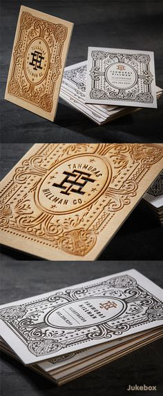 Impressive 3ply Wood Business Cards with Laser Etching - designed and produced by Jukeboxprint.com