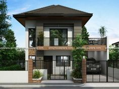 Did you ever wanted to have a house but your lot have some restrictions on what design can be constructed? Well, Evelyn model is a two story house plan with firewall maybe the answer.
