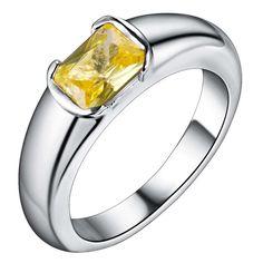 fine yellow zircon Hot silver plated Ring ,fashion jewelry Ring for Women, /PRAKUASE FKHETBOP