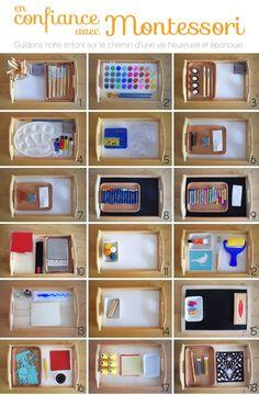 The Art in Montessori Pedagogy - .Art trays idea for Montessori Maria Montessori, Montessori Trays, Montessori Preschool, Montessori Education, Art Education, Montessori Elementary, Montessori Bedroom, Elementary Teaching, History Education