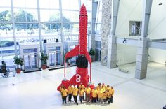 30ft Thunderbird rocket lands in Indianapolis http://www.thechuckle.co.uk/thunderbirds-rocket.php