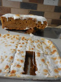 roasted marshmallow pumpkin bars, under 200 calories, snack or dessert
