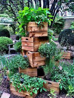 こちらは木箱を大胆に積み上げただけ。育って増えて生い茂るごとに味が出て、素敵なお庭になりそうです。                                                                                                                                                                                 もっと見る
