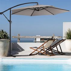 Outdoor umbrellas transform and shade any area you like<div><ul><li>Water and mould resistant</li><li>Lightweight enough to move around outdoors</li><li>Includes umbrella cover for protection when not in use</li></ul><b>Features</b></div><div><ul><li>160g polyester fabric</li><li>100% steel pole</li><li>Pole diameter: 48 x 1mm</li&gt...