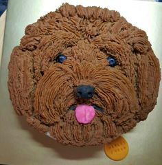 Poodle Face Cake Free Hand Piping With Mashed Potato On Meat