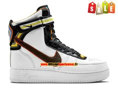 pick up c4854 e1cb7 Nike X Riccardo Tisci Air Force 1 Hi RT - Chaussure Nike Montante Pas Cher  Pour Homme Blanc Brun baroque 669919-120