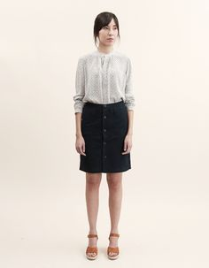 A.P.C. Buttoned Skirt - Nitty Gritty Store
