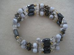 Wrap and go magnetic beaded bracelet by PixieRiver on Etsy, $32.00