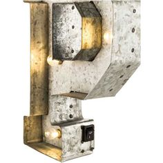 galvanized marquee lighted letter p hobby lobby 1175009