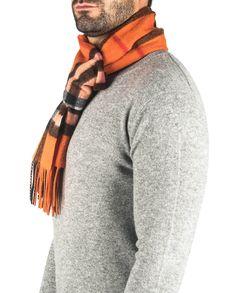 Kaschmir Schal kariert orange front Men Sweater, Orange, Sweaters, Fashion, Cashmere, Scarves, Moda, Fashion Styles, Sweater