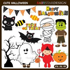 CUTE HALLOWEEN CLIPART #halloween #crafts Halloween Bingo Cards, Halloween Countdown, Halloween Party Favors, Halloween Clipart, Halloween Quotes, Halloween Celebration, Halloween Pictures, Halloween Activities, Family Halloween