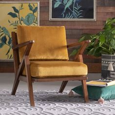 When it comes to the Velvet Mid-Century Accent Chair by Drew Barrymore Flower Home , style perfection is found in the details. Mid Century Armchair, Mid Century Modern Chairs, Chair And Ottoman, Chair Pillow, Chair Cushions, Home Collections, Modern Furniture, Furniture Ideas, Cheap Furniture