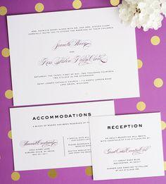 Purple wedding invitations - Classic Vintage Wedding Invitations