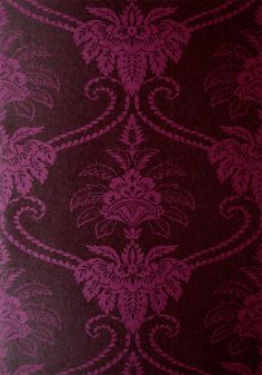 DAMASK, Purple and Brown, AT10074, Collection Wild Flora from Anna French