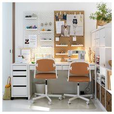 MICKE Drawer unit on castors, white, 35x75 cm - IKEA Ikea Micke, Ikea Kallax Regal, Honeycomb Paper, Painted Drawers, White Desks, Teen Room Decor, Drawer Unit, Clever Design, Diy Desk
