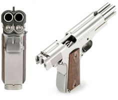 "The Gun so Nice, You Fire it Twice. Well, that better way is finally here! European gun manufacturer Arsenal Firearms has produced the AF2011-A1 Double Barrel Pistol, designed to ""commemorate the legendary Colt 1911-A1,"" the .45 that turned 100 last year. ""I don't know what's more shocking: The fact that this was invented at all, or the fact that it wasn't invented in America."""