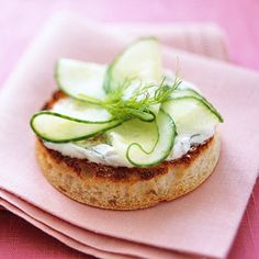 Cucumber and Dill-Sour Cream on English Muffin.....perfect for high tea