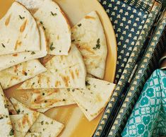 Garlic-Oregano Grilled Pita Bread Recipe  at Epicurious.com