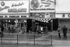 """""""Eine Reise um die Welt in 50 Minuten"""", Aktualitätenkino (AKI) am Zoo, Joachimstaler Straße 43-44, Charlottenburg, 1950er Jahre (zerstört)"""