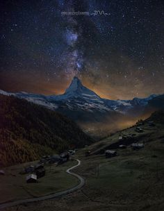 Zermatt night by Daniel Metz on 500px