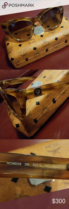 FLASH! Authentic! MCM! Sunglasses! Cognac Stripe ~ Brand New ~ Original Hard Case, Cloth and Authenticity Card ~ 2 pairs available ~ 56mm ~ 100% UV Protection ~  No Trades! Price FIRM!  Please ask as many questions as possible.  I want you to be 100% satisfied prior to purchasing! Aiming for a ⭐⭐⭐⭐⭐ Rating! MCM Accessories