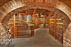 Bottle Cellar by Luxe Wine Cellars. Wanna work this into my new house design! (in my dreams! Walnut Stain, New Home Designs, Wine Storage, Fine Wine, Great Pictures, My Dream Home, Wine Rack, Wines, New Homes