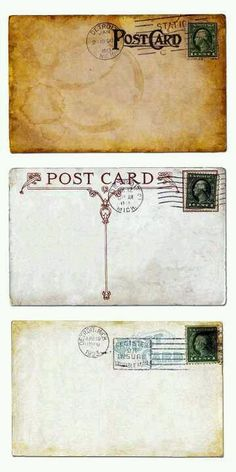 Postcards. #vintage postcard images