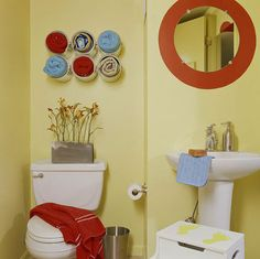 paint can towel storage