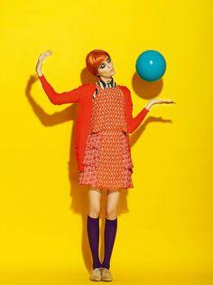 A story with balloon, ELLE magazine Bulgaria