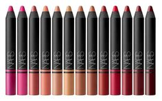 Red, pink, and nude is all we need in life. Check out Nars' new Satin Lip Pencil Collection!