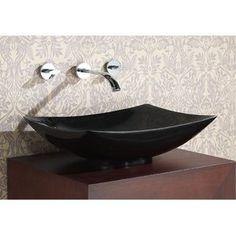Stone Rectangular Vessel Bathroom Sink