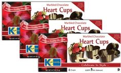 Groupon - 3-Pack of Chocolate Toasting Cups or Heart-Shaped Dessert Cups in [missing {{location}} value]. Groupon deal price: $19.99