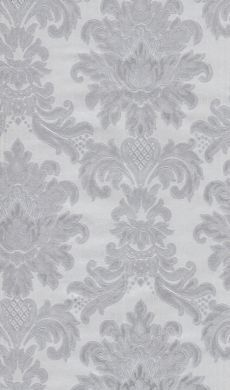 Satin Damask Metallic Silver Wallpaper