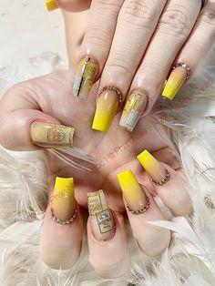 Crazy Nail Art, Crazy Nails, Cute Nails, Pretty Nails, My Nails, Beautiful Nail Designs, Beautiful Nail Art, Nail Noel, Angel Nails