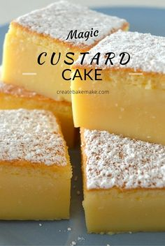 This Vanilla Magic Custard Cake is all kinds of amazing! This Vanilla Magic Custard Cake is all kinds of amazing! Magic Cake Recipes, Sweet Recipes, Sponge Cake Recipes, Magic Recipe, Custard Recipes, Baking Recipes, Custard Desserts, Vanilla Desserts, Amish Recipes