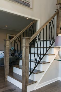 Staircase Banister Ideas, Stair Railing Design, Open Staircase, Staircase Remodel, Staircase Makeover, Spindles For Stairs, Design Of Staircase, Banisters, House Stairs